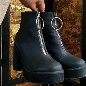 Dolls Kill Zip-Up Boots